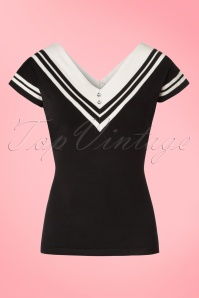 Dancing Days by Banned Kara Top in Black 113 10 20890 20170301 0002W