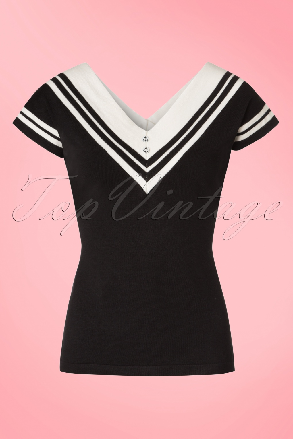 1940s Blouses, Shirts and Tops Fashion History 50s Cedar Top in Black £34.70 AT vintagedancer.com