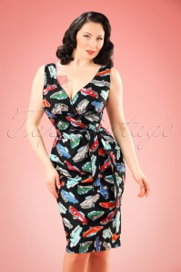 TopVintage Exclusive ~ 50s Rita Cars Dress in Black