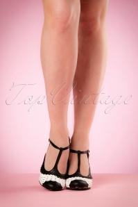 Bettie Page Shoes Page T strap BLack Pumps 401 14 19960 02232017 009W