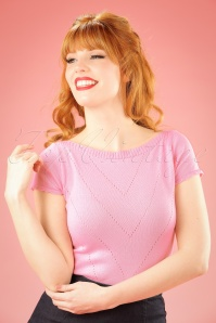 60s Solene Top in Blush