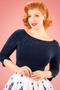 50s Addicted Sweater in Night Blue
