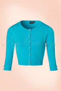 40s Mavis Cardigan in Aqua Blue
