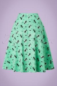 Vixen 50s Emma Skirt In Green 123 49 20461 20170306 0010W