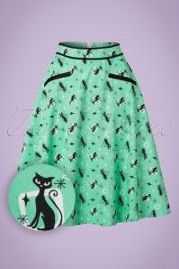 Vixen 50s Emma Skirt In Green 123 49 20461 20170306 0004W1