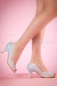 Bettie Page Shoes Heather Blue Peptoe Pumps 403 30 19955 02232017 008W