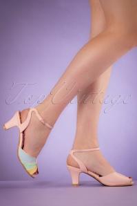 Abela Summer Sandals années 50 en rose