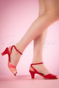 Abela Summer Sandals années 50 en rouge