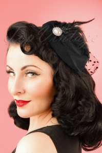 50s All A Dream Fascinator in Black