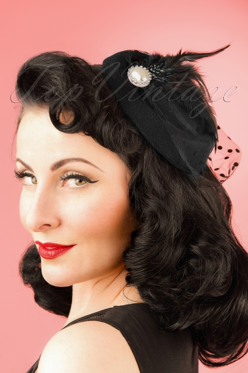 Dancing Days by Banned Black Fascinator 201 10 21080W