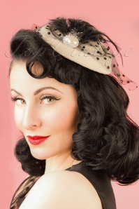 50s All A Dream Fascinator in Cream