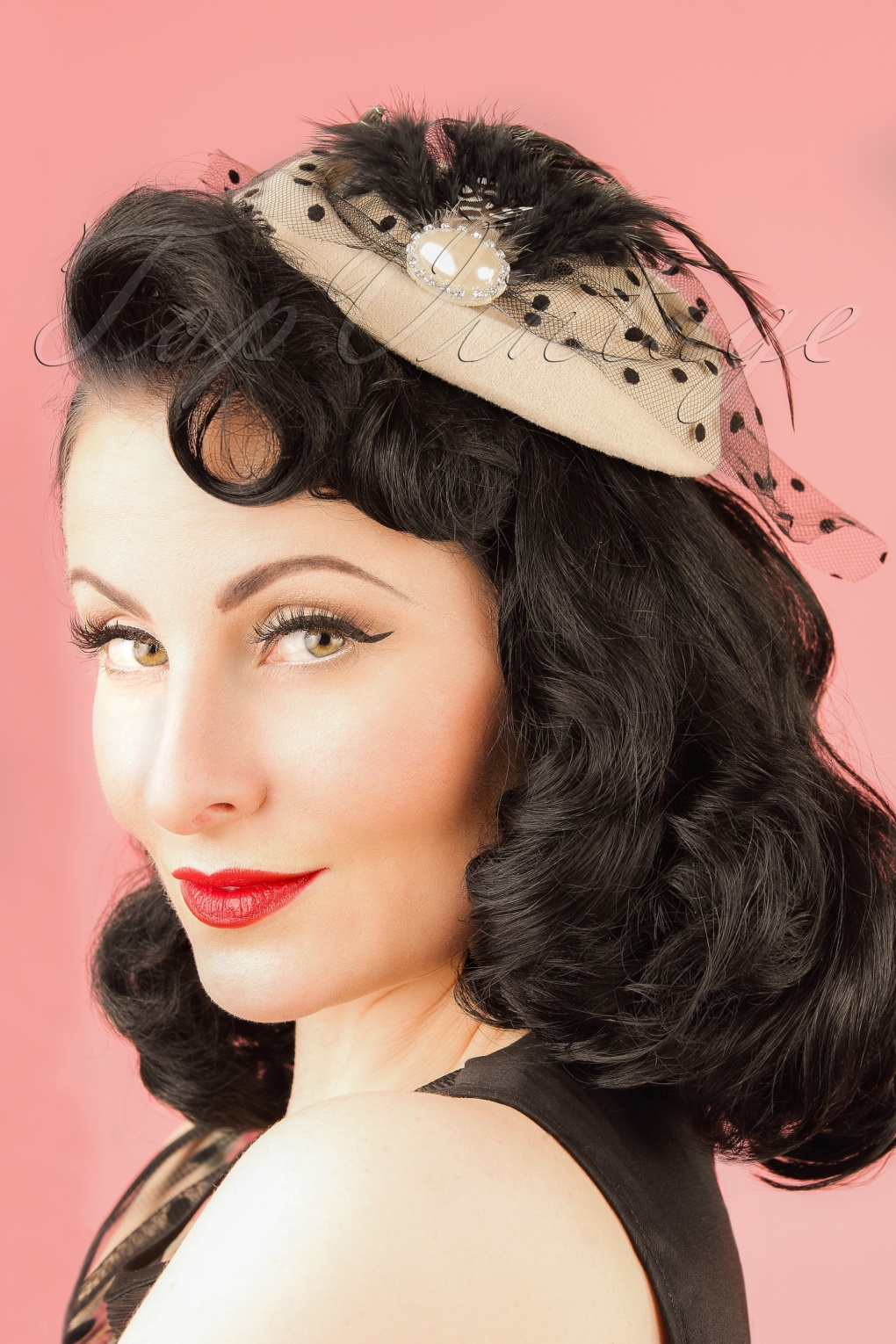 1950s Style Hats for Sale 50s All A Dream Fascinator in Cream £17.33 AT vintagedancer.com