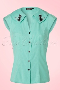 Vixen Maya Green Cat Blouse 112 40 20467 20170307 0003W