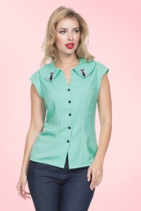 Vixen Maya Green Cat Blouse 112 40 20467 20170307 01