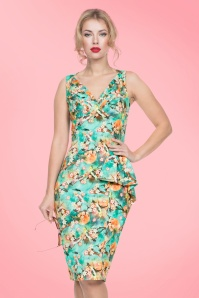 Vixen Jessa Green Floral Dress 100 49 20453 20170308 0010