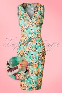 Vixen Jessa Green Floral Dress 100 49 20453 20170308 0004wv
