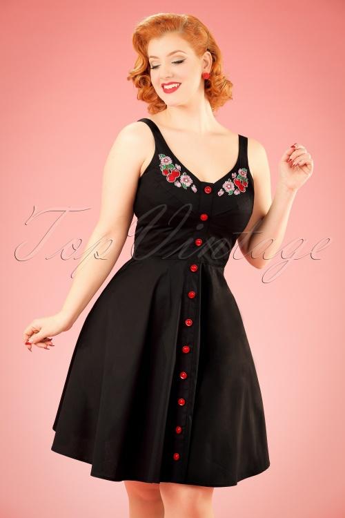 Bunny Lulu Floral Black Dress 102 10 21075 20170202 0005 w