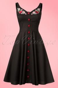 Bunny Lulu Floral Black Dress 102 10 21075 20170202 0004W