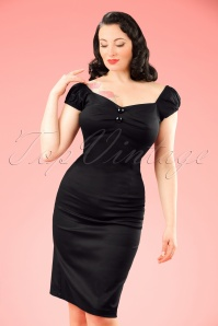 Collectif Clothing Dolores Black Pencil Dress 10248 2 w