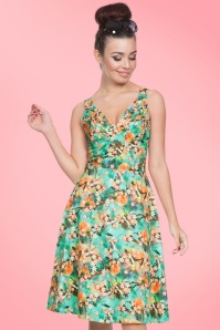Vixen Lizabeth Green Floral Dress 102 49 20454 20170308 0010