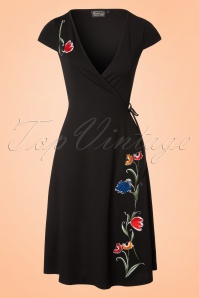 Vixen Primrose Black Floral Dress 102 10 20439 20170308 0004W