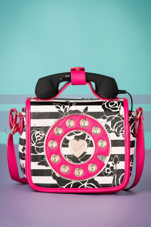 Telephone Bag Pink 60s Betsey Kitsch Mini Johnson In 0vN8nOmw