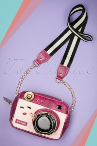 Kitsch Close Up Camera Bag Années 60 en Rose