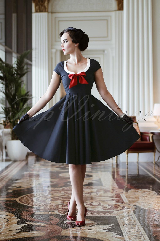 the dovima swing dress in navy. Black Bedroom Furniture Sets. Home Design Ideas