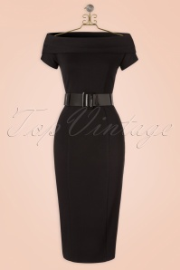 The Jazmin Pencil Dress in Ink Black
