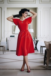 The Chérie Dress in Red