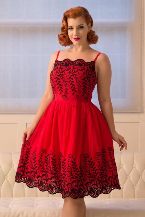Vixen Scarlett Red Floral Dress 102 27 20450 20170308 1