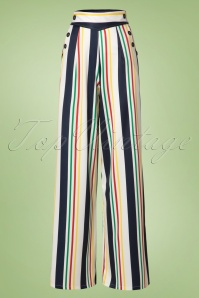 Vixen Hailey White Striped Trousers 131 59 20484 20170310 0006W