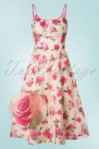 Vixen Tabitha Beige Floral Swing Dress 102 57 20438 20170307 0002wv