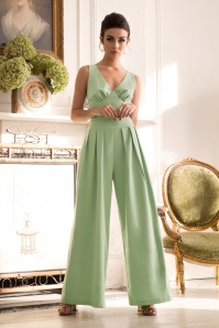 50s Mandy Jumpsuit in Vintage Green