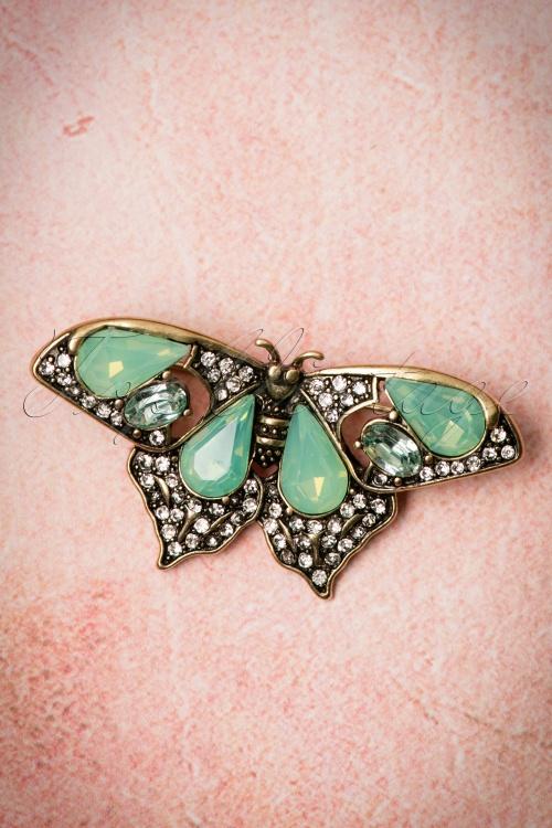 Lovely Butterfly Brooche Green 340 40 21322 03072017 002W