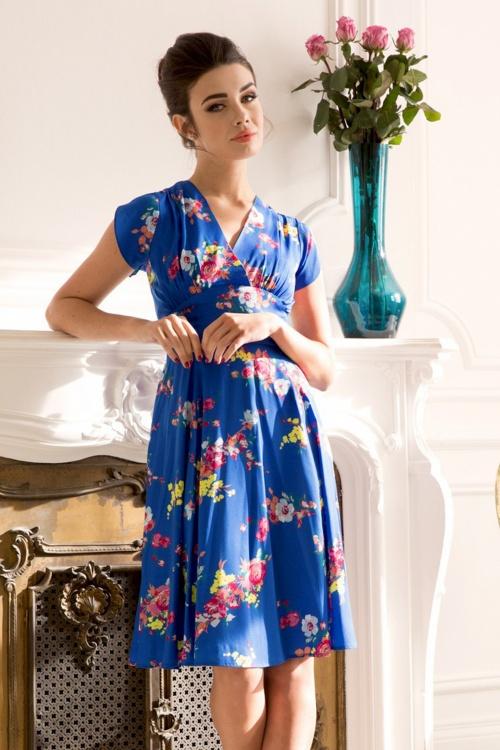 Vixen Amber Blue Floral Dress 102 39 20458 20170313 03