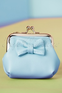50s Sienna Bow Small Wallet in Blue