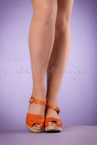 Lotta from Stockholm High heel Peep Toe Clogs Orange 421 21 20976 03082017 017W