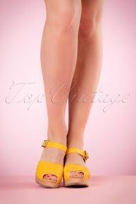 Lotta from Stockholm High heel Peep Toe Clogs yellow 421 80 20975 03082017 009W
