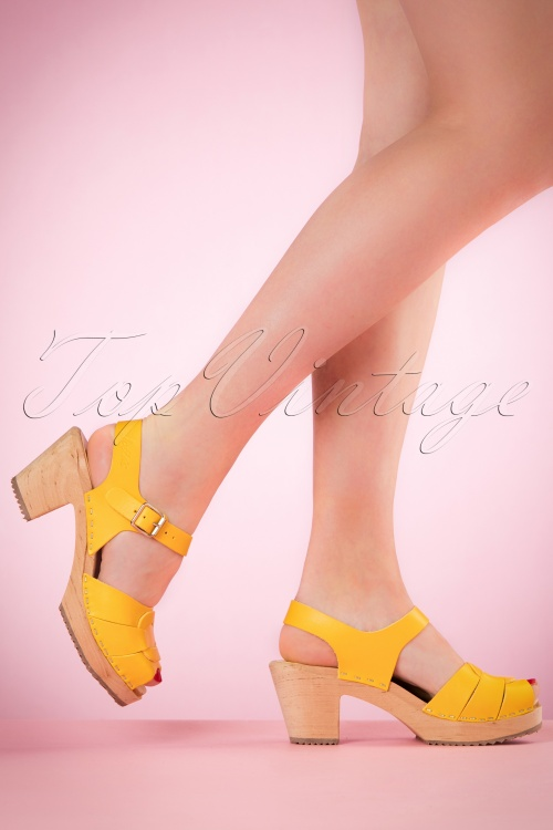Lotta from Stockholm High heel Peep Toe Clogs yellow 421 80 20975 03082017 005W