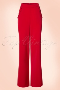 Vixen Red High Waist Trousers 131 20 20483 20170313 0003w