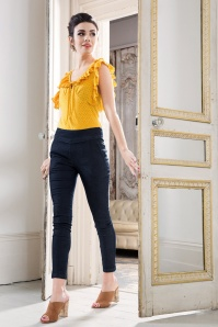 Vixen Sandy Trousers in Denim 131 30 20487 20170313 0012
