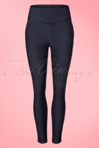 Vixen Sandy Trousers in Denim 131 30 20487 20170313 0004w