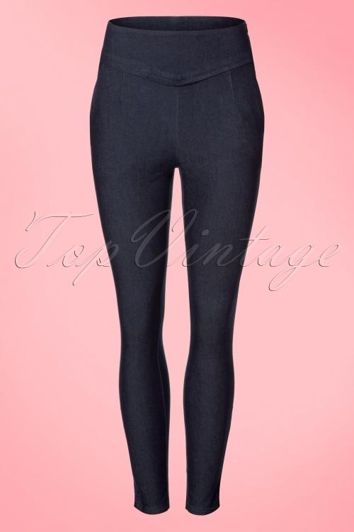 Vixen Sandy Trousers in Denim 131 30 20487 20170313 0004w