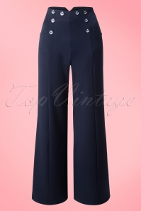 Dancing Days by Banned Navy Julia Trousers 131 31 17841 20160330 0006W