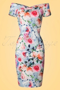 Paper Dolls Multi Rose Off Shoulder Pencil Dress 100 19 20556 20170307 0002W