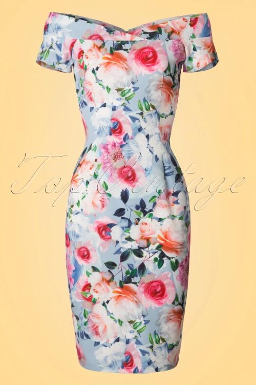 Paper Dolls Multi Rose Off Shoulder Pencil Dress 100 19 20556 20170307 0002W