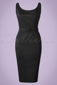 Collectif Clothing Ines Plain Pencil Dress in Black 20819 20161129 0005W