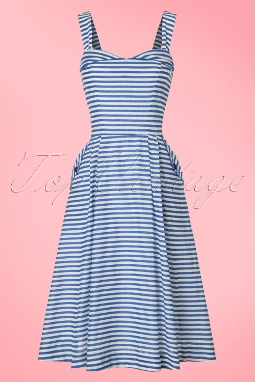 Emily and Fin Pippa Dress with Blue Stripes 102 39 19746 20170314 0006w