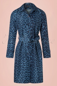 60s Lizzy Rio Coat in Dark Navy